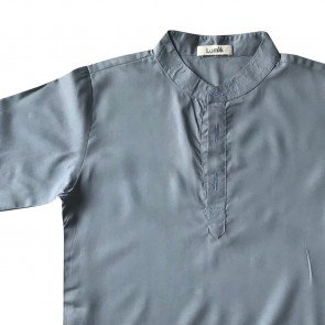 lumik-Lumik Grey Plain Koko Long Sleeve-