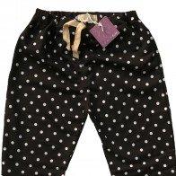 lumik-Lumik Black Polka Jogger Pants-