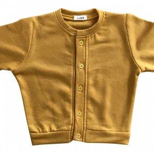 lumik-Lumik Yellow Plain Cardigan-
