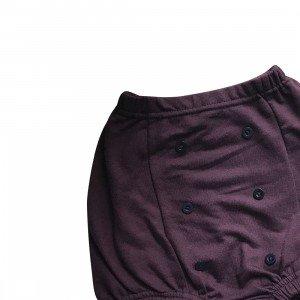 lumik-Lumik Burgundy Plain Button Short-
