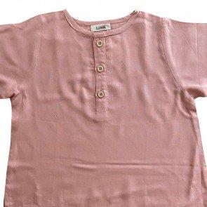 lumik-Lumik Dusty Pink Plain Lengan Stick Balik-