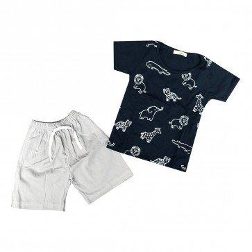 lumik-Lumik Navy Animal Baju Set-