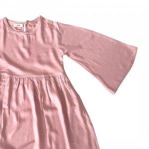 lumik-Lumik Dusty Pink Plain Gamis-