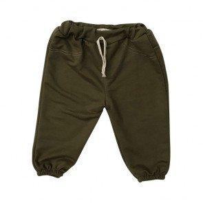 lumik-Green Plain Jogger-