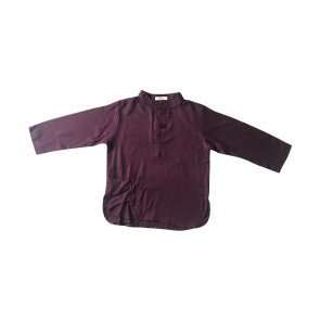 lumik-Lumik Maroon Plain Koko Long Sleeve-