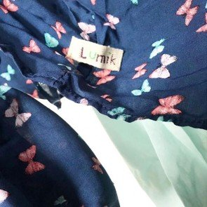 lumik-Butterfly Navy Mukena-