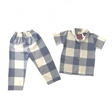 lumik-Pajamas Blue Square-