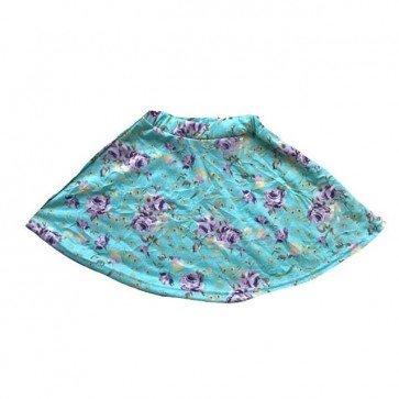 lumik-Blue Flowery Skirt-