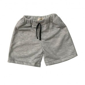 lumik-Light Grey Plain Short-