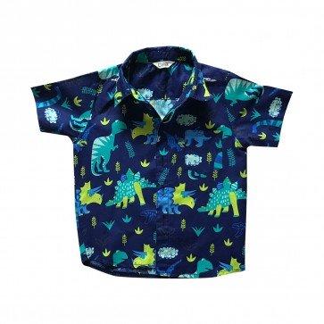 lumik-Lumik Navy Dinosaurus Baby Shirt-