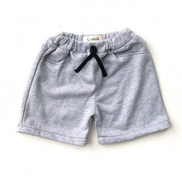 lumik-Plain Grey Short-