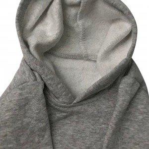 lumik-Lumik Light Grey Plain Sweater Hoodie-