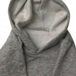 lumik-Lumik Light Grey Plain Sweater Hoodie-