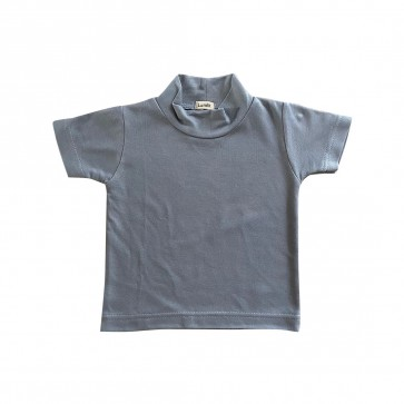 lumik-Lumik Grey Plain Turtleneck Tee -