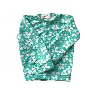 lumik-Green Floral Cardigan-