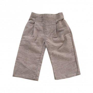 lumik-Lumik Brown Plain Kulot Pants-