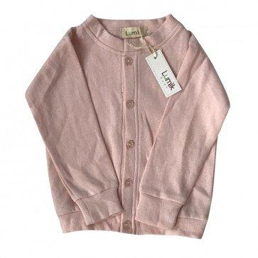 lumik-Plain Baby Pink Cardigan-