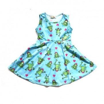 lumik-Green Froggy Play Dress-