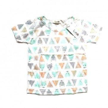 lumik-Pyramid White Baby Shirt-
