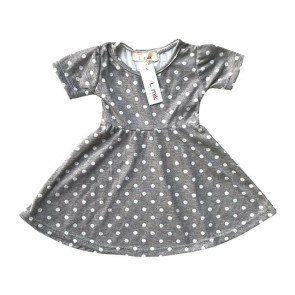 lumik-Grey Polka Simply Dress-