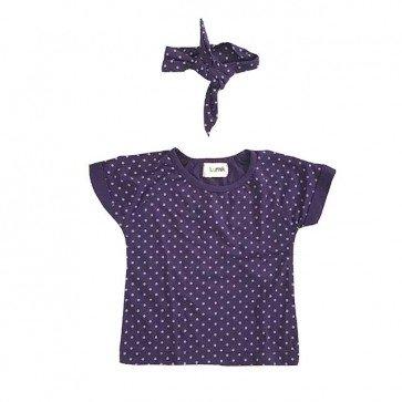 lumik-Purple Dots Tee Set-