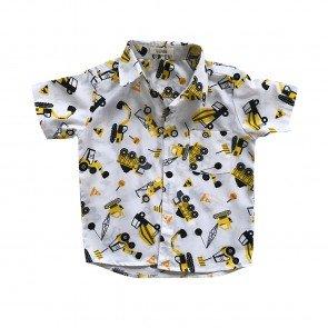lumik-Lumik White Truck Baby Shirt-