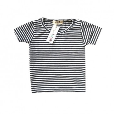 lumik-Grey Stripes Tee-