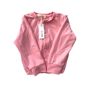 lumik-Plain Pink Cardigan-