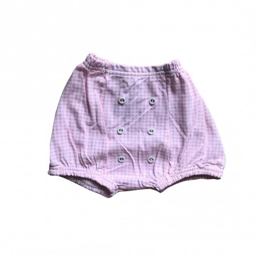 lumik-Lumik Pink Square Button Short-