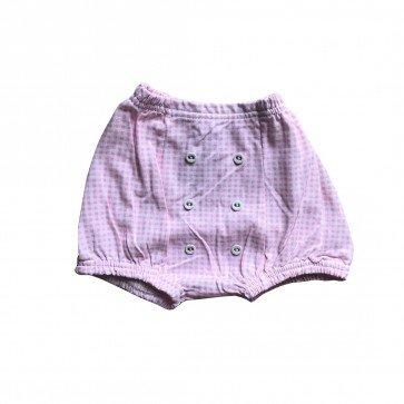 lumik-Lumik Pink Square Button Short-