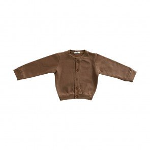 lumik-Lumik Brown Plain Cardigan-