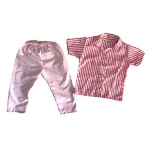 lumik-Pajamas Pink Stripes-