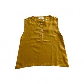 lumik-Lumik Mustard Plain Sleveeless Blouse -