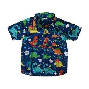 lumik-Blue Dinosaurus Baby Shirt-