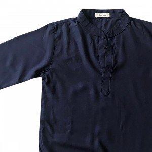lumik-Lumik Navy Blue Plain Koko Long Sleeve-