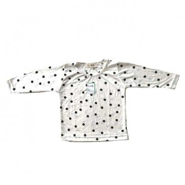 lumik-White Polka Long Sleeves-