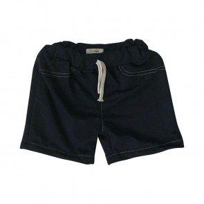 lumik-Lumik Black Plain Short Pants-