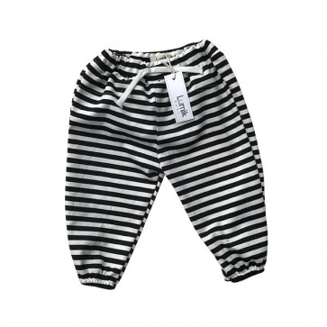 lumik-Black White Stripes Jogger-