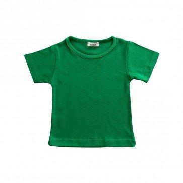 lumik-Lumik Green Plain Tee Basic-