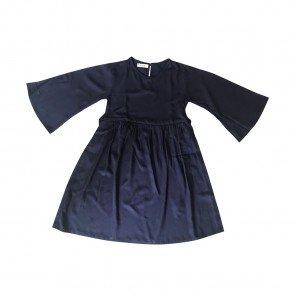 lumik-Lumik Navy Blue  Plain Gamis-