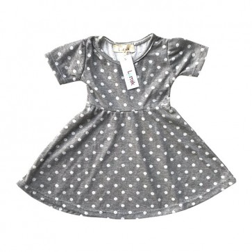 lumik-Grey Polka Simply Dress-