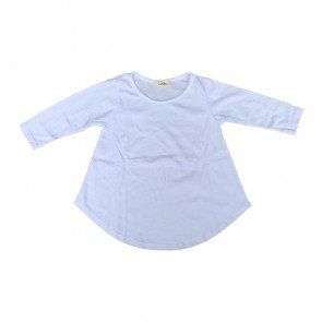 lumik-Lumik White Plain Girly Long Sleeve-