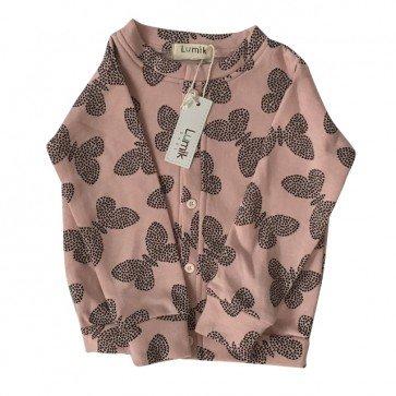 lumik-Pink Butterfly Cardigan-