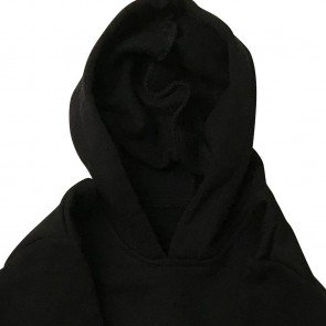 lumik-Lumik Black Plain Sweater Hoodie-