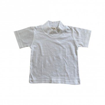 lumik-Lumik White Plain Turtleneck Tee -