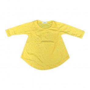 lumik-Lumik Yellow Plain Girly Long Sleeve-