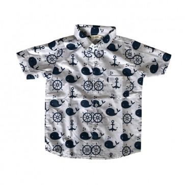 lumik-White Shark Baby Shirt-