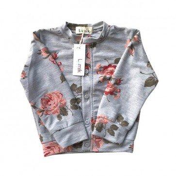 lumik-Flowery Grey Cardigan-