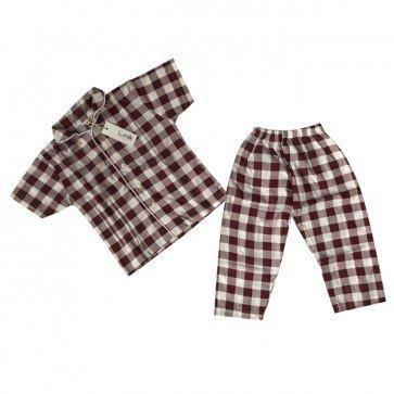 lumik-Maroon Square Pajama-