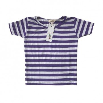 lumik-Purple Stripes Tee-